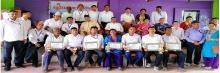 पाँचाै गाउँ सभा २०७५ सम्मानित कर्मचारीहरु ।