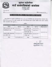विपद् व्यवस्थापन कोष/कोभिड-१९ कोषको विवरण सार्वजनिक सम्बन्धि सूचना।